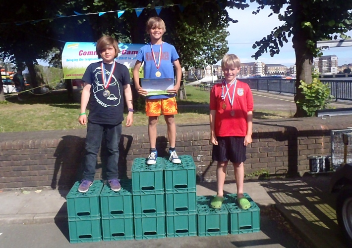 Winners at the Community Games at Shadwell Basin Outdoor Activity Centre