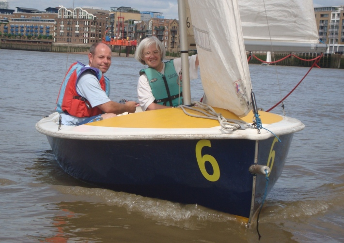 Shadwell Basin's Adult Canoe Club sailing on the Thames