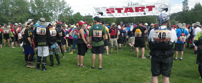 Ready to go. Shadwell paddlers enter Yukon River Quest