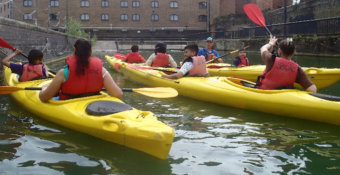 Group Kayaking in double kayaks
