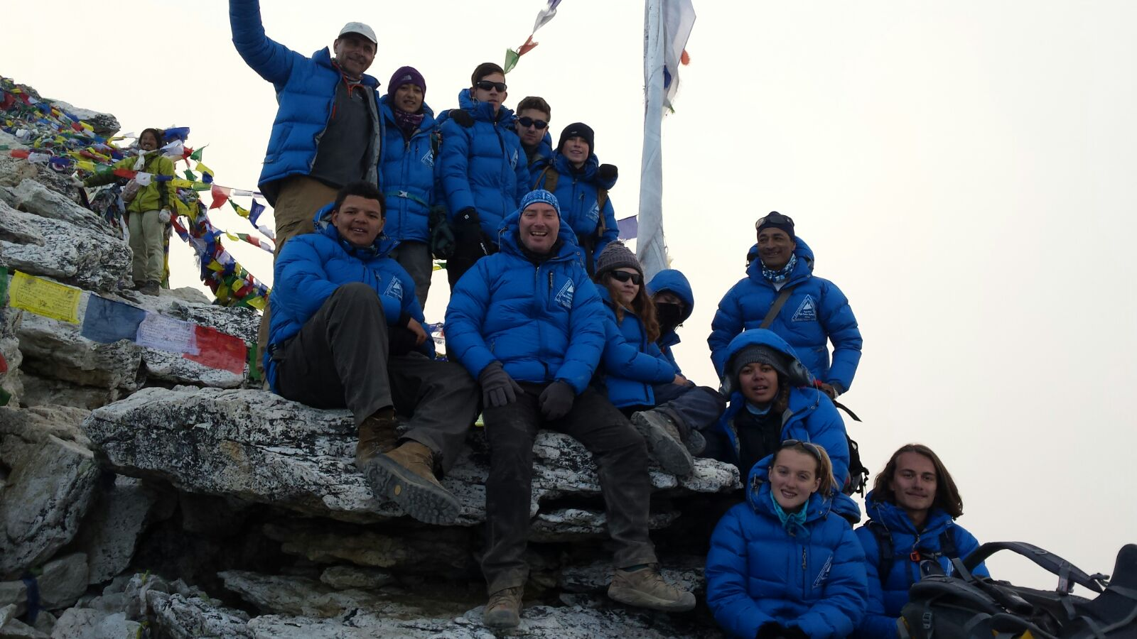 The group at the summit